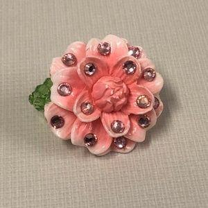 Tarina Tarantino Swarovski Studded Flower Ring